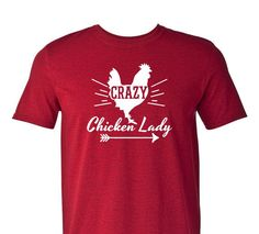 Hey, I found this really awesome Etsy listing at https://www.etsy.com/listing/219516643/crazy-chicken-lady-t-shirt-humor-tee