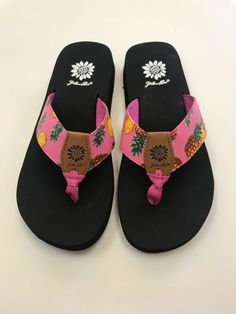 290487c2e Women s Yellow Box Pineapple Flip Flops