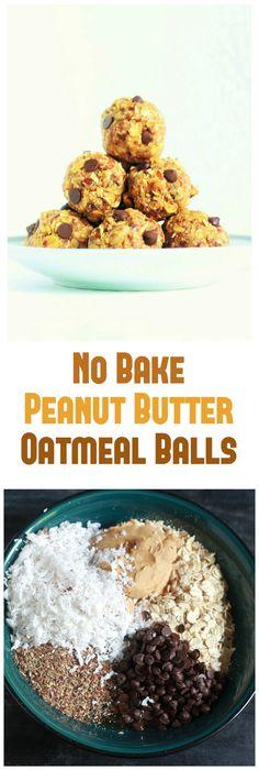 No Bake Peanut Butter Oatmeal Balls - Learn how to make Peanut Butter Oatmeal Balls without baking.
