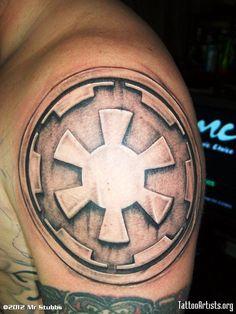 star wars tattoo - Imperial Logo imprint