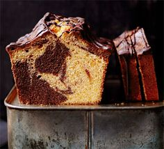 For a deliciously nostalgic cake, combine a classic flavour combination of orange and chocolate in this retro two-tone bake