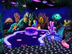 Oceans 18 Black Light Mini Golf in Monterey is a pretty cool little indoor golf facility.