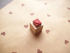 Tiny Heart Rubber Stamp, Mini - Wood Mounted - Valentines Day - Great for Making Borders and Patterns on Etsy, $2.95