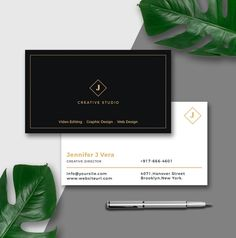 Binder cover printable instant download subject cover business card template modern business card instant download black and gold card photoshop template business card design wajeb