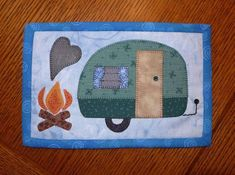 Camping Fun Mug Rug - Camper Mini Quilt | Craftsy