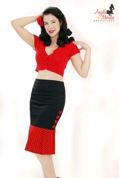 Red and Black Polka Dots Wiggle & Jive by dismantledfashions