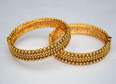 PB 559 Gold Plated Bangles Kadas Bollywood Indian Bridal Ethnic Fashion Jewelry  #Indian #Bangles