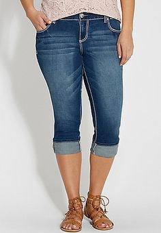 Plus Size Capris for Women | Silver Jeans, Vigoss & maurices ...