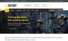 Factory WordPress Theme website