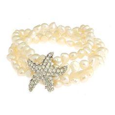 Starfish And Pearl Bracelet | ... Paper and Gifts Freshwater Pearl Starfish Bracelet *Gold OR Silver