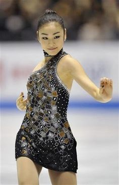 Yuna Kim  -Black Figure Skating / Ice Skating dress inspiration for Sk8 Gr8 Designs.