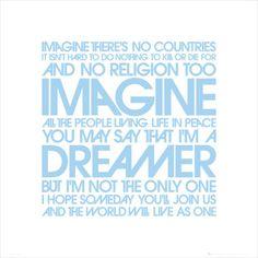 John Lennon: Imagine Lyrics Poster - 2009