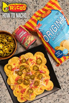 Ricos chips are crispy, crunchy and crafted for optimal scoopage to hold that golden nacho cheese and juicy jalapeno. That's #howtonacho