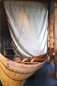 Hymir's boat? // Reproduction viking fishing skiff
