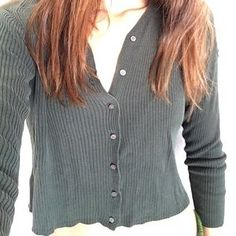 de3ed7344214a7 I just added this to my closet on Poshmark  BANANA REPUBLIC Olive Crop Top  Cardigan