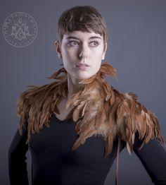 Tan feather Shoulder piece