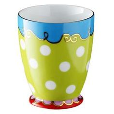 Oilily coffee mug: I need to buy two green ones to make my collection complete!
