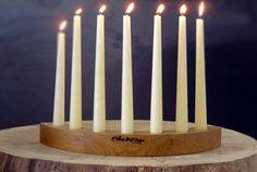 Advent-style candle holder crescent moon shape by RenovatioImperii