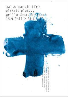 Malte Martin – Affiche pour une exposition (2011) Mix medium (typo + illustration fait main)