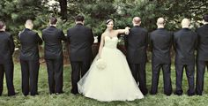The bride and the groomsmen | Millyard Studios