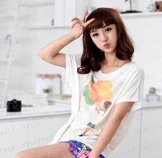 Girl & Balloon Print T-Shirt from #YesStyle <3 59 Seconds YesStyle.com