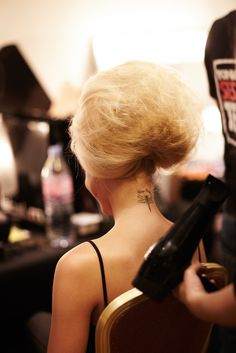 This big bouffant needed a whole lotta #labelm Volume Mousse, Hairspray and Resurrection Style Dust!