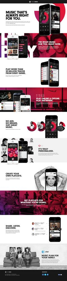 Cool Web Design, beatsmusic. #webdesign #webdevelopment [http://www.pinterest.com/alfredchong/]