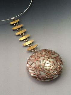 Pam Caidin. Fine silver, copper, 14K gold, sterling.