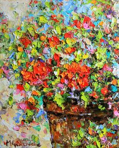 Still Life Original Abstract Oil Painting by mgotovac
