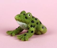 'F is for Frog' by Caroline Gray www.carolinegrayillustration.com Needle felted cow