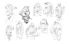 shiyoonkim:  …Some iterations of baymax's armor that never made...