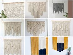 The rich styles, gentle materials and flexible characteristics of hand-woven crafts are the best choice to create this style. Nordic Home, Hand Knitting, Hand Weaving, Tapestry, Sofa, Rugs, Create, Cotton, Diy