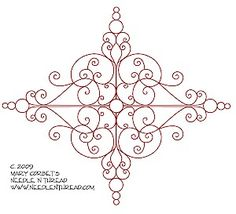 free bead embroidery patterns | Here's a new, free hand-embroidery pattern from Mary Corbet of ...
