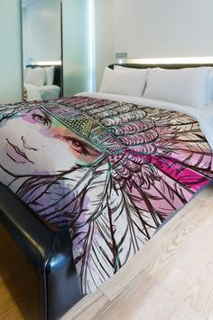 Watercolor warrior | duvet quilt cover