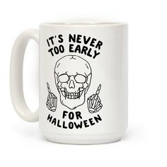 This funny halloween mug is great for you and all your skeleton army, doot doot! it's never too early for halloween, this skeleton shirt is perfect for all you halloween fans.