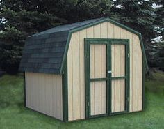 Midwest Manufacturing E Z Build 8u0027W X 10u0027D Gambrel Storage Building