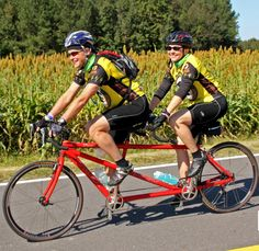 Younger Next Year (for women) by Chris Crowley and Harry Lodge M.D changed my life.  That's me and my husband riding tandem across the state of NC on the Mountain to Sea Seven Day Bike Ride sponsored by Cycle North Carolina. Here is my success story.
