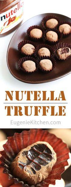Nutella Chocolate Truffle Recipe by Eugenie Kitchen