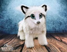 Fantasy Animal Art Doll Wolf Arctic Fox SAMPLE by BresBitsNPieces