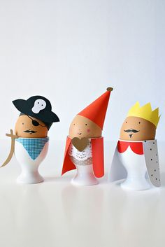 Adorable character eggs attired in paper-From Pilli Pilli