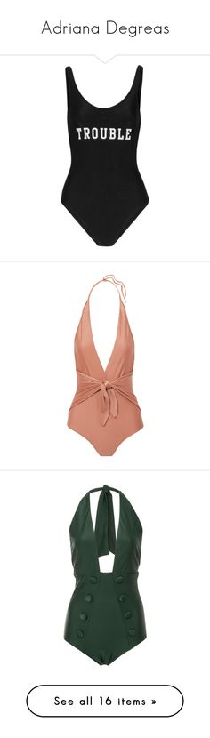"""Adriana Degreas"" by designing-myworld ❤ liked on Polyvore featuring swimwear, swimsuits, bodysuit, tops, bikinis, black, bikini swimwear, bikini bathing suits, bathing suits bikini and adriana degreas"
