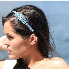 Introducing the newest jeweled headband in the Emily Kai line, Aqua Oasis!
