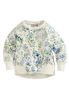 Buy Ecru Floral Crew Neck Sweater (3mths-5yrs) from the Next UK online shop