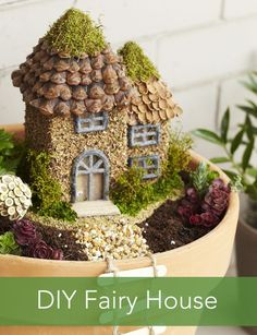 Give the fairy in your life a homemade home: http://www.pgeveryday.co... - DIY Fairy Gardens