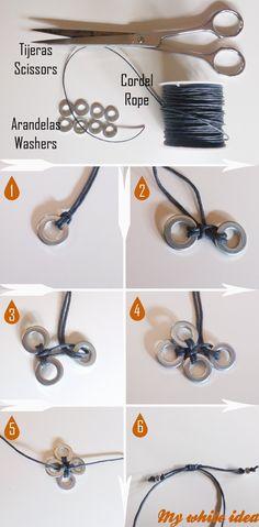 diy washers bracelet