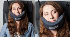 Por fin han inventado una hamaca para la cabeza con la que poder dormir en un avión | Bored Panda