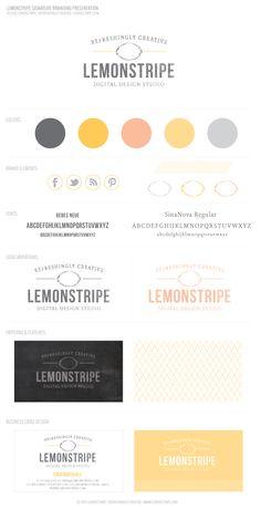 Lemonstripe's New Brand Design.  #branding #logo design #brand #logo