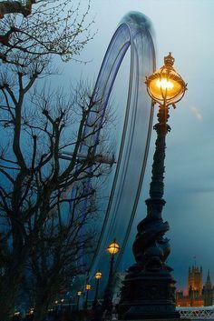 Dusk, London Eye, England