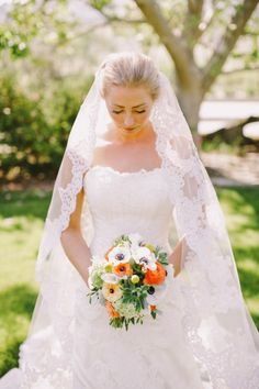 classic lace wedding veil