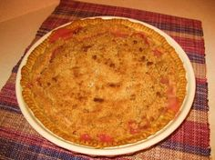 Sour Cream Rhubarb Crumb Pie